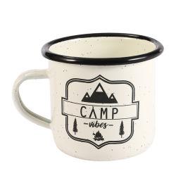 La cuvette de 8 cm personnalisé personnalisé en émail blanc tasse tasse de Camping