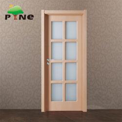 Le verre trempé de toilettes de l'intérieur laminé MDF/HDF Composite porte feuille en PVC