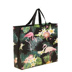 Il lusso su ordinazione della stampa di marchio copre i sacchetti tessuti pp d'acquisto di Rafia con le maniglie
