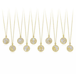 2021novíssimo Design banhado a ouro Crystal Rhinestone Shell branca 12 Zodiac Colar Pendente de joalharia
