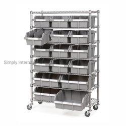 Restaurante de calidad comercial de almacenamiento Rack clasificados 16 papeleras del organizador del sistema de estanterías