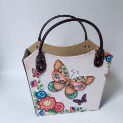 Cesta de la mano decorativos para Navidad y el Festival de Primavera recibiendo regalos personalizados en cuero cesta de regalo