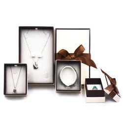 Anneau de carton de papier de luxe personnalisé Bijoux Emballage cadeau Box