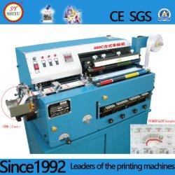 Automatischer Tischplattenmehrfarben-Polyester-Satin-Nylonbaumwollband Ployester Belüftung-Farbband-Satin-anhaftende Papierkennsatz-Drucken-Maschine
