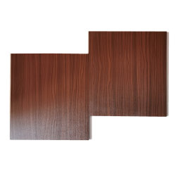 جدار داخلي مقاس 8X250 مم يغطي لوحة Plastic Hollow Plain PVC المنقوعة قص الأوراق