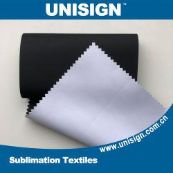 W/B Block-out de la sublimation de tissus textiles pour toile de fond avec revêtement noir