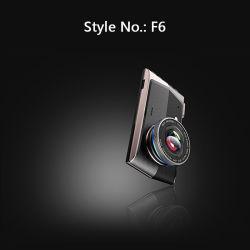"""4 """" à double focale HD enregistreur de conduite avec l'avant et arrière, l'enregistrement Time-Shrinking voiture enregistreur vidéo numérique du tableau de bord l'appareil F6-A1"""