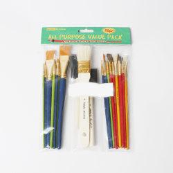 21345 Craft Paint Brushes Starter Kit 25pcs verschiedene Größen, Kunststoff-Griff und Holz Griff Anzug