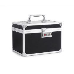 Aluminio Two-Layer profesional caso cosmética belleza cosmética maquillaje caja caja caja de herramientas