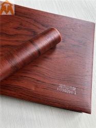 문을%s 목제 곡물을%s 가진 장식적인 PVC 필름 또는 씻기 룸 내각 또는 가구
