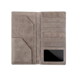 Suporte de passaporte de organizador de saco de carteira de viagem de couro RFID personalizado