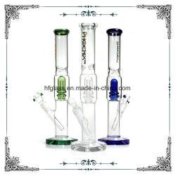 15 дюймов прямая трубка стекла водопроводных труб приятное освщеение Perc Hookah Crystal основание толщиной