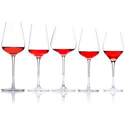 تذوق النبيذ المحمر من المائلة المحضرة يدويًا جود الدخان الفريد أكواب النبيذ