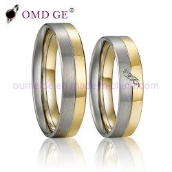 バレンタインデーの罰金の宝石類925の銀製のカップルのリング