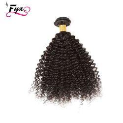 Usine de gros des cheveux bouclés profonde vierge ensembles, 100 matières vierges cuticule brésiliens alignés sèche cheveux, cuticule alignés vierge