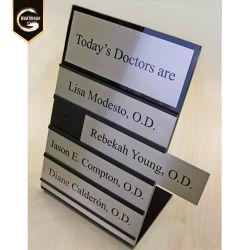 Nom du bureau de l'aluminium GS bon marché de la plaque support de carte modifiable en métal de la Table des plaques de nom de signes