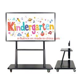 E-75 pouces de FLUENCE l'enseignement scolaire tout en un seul écran plat numérique portable Smart Carte interactive