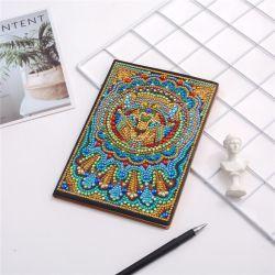 다이아몬드 색칠 노트북 DIY 사자 특별한 모양 다이아몬드 자수 십자가 스티치 일기 책