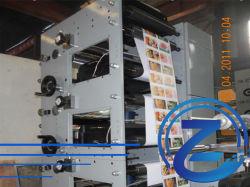 4 Цветной принтер Flexographic этикетки бумага печать машины