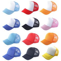 Protezione su ordinazione in bianco del camionista della gomma piuma di baseball del papà del cappello del comitato di marchio 5
