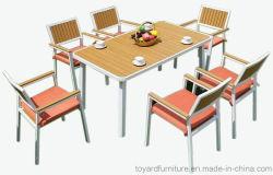 Nouvelle politique européenne de jardin Meubles de salle à manger moderne Set Powder-Coated aluminium Table et chaises de Patio
