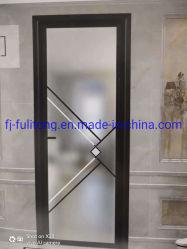 Garaje correderas plegables de PVC de Patio Interior de acero puerta de vidrio de madera