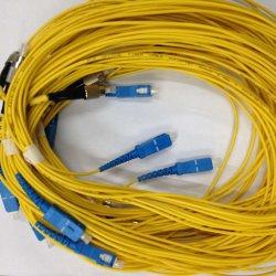 Exterior Interior Blindó SC/PC Cable de conexión de cable de fibra óptica con conectores SC FC St.
