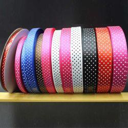 0.6Cm/1см/1,5 см - 2 см/2,5 атласная лента печати печать DOT оптовой Рождество цвет Ribbon-Dy10037