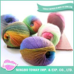 중국 공급자 싼 뜨개질을 하는 크로셰 뜨개질 양탄자 마가목 모직 면