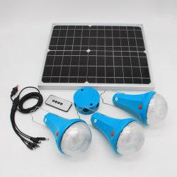 Las luces del amanecer mundial 30W de Energía Solar Energy Home Sistema de iluminación con 4 lámparas LED