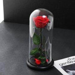 Commerce de gros Roses éternelle préservé fleur réel pour mariage décorations avec boîte cadeau la vie naturelle Forever fleur