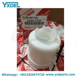 China Denso Filtro de combustible para piezas de repuesto de Toyota Yaris Vios 23300-21030