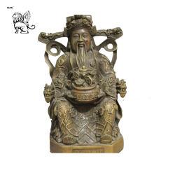 Usine chinoise religieux statue en bronze de la richesse en laiton dieu Bouddha Bsg-90