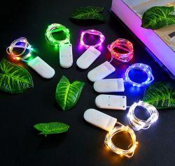 Chaîne de lumière LED Pile bouton des feux de chaîne décoratifs fleurs Décoration de Noël gâteau feux Feux en étoile