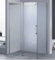 크롬 도금을 한 프레임 8mm 강화 유리 목욕 룸 미닫이 문 샤워 오두막 120