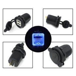 DIY resistente al agua de la toma USB Dual 12~24V 2.1 AMP.