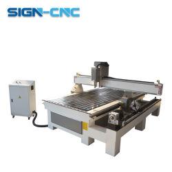 Porte en bois de gravure de l'acrylique 1300*2500mm CNC Router machine avec le Rotary