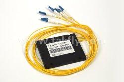1X4 ABS van de Vezel van LC Optische PLC Splitser