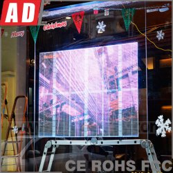 Наружный RGB светодиодный дисплей для ювелирных магазинов сохранить окно отображения рекламы Прозрачный дисплей со светодиодной подсветкой