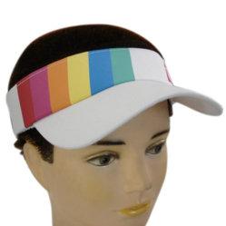일요일 보호 골프 모자를 인쇄하는 무지개를 가진 솔질된 면 능직물