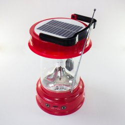 Camping carpas solares luces LED linterna recargable con Radio