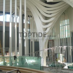 Gebäude Gebogene Aluminium / Aluminium Falsche Decke Biegen Wand Dekorativ Fenster