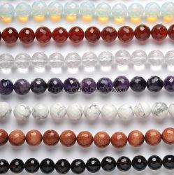 方法自然な宝石用原石の紫色の虎眼石の水晶ビードのチャーミングな宝石類