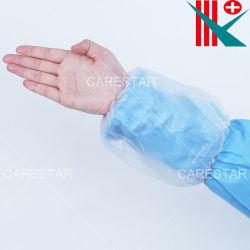 Protector impermeable de plástico de PVC Nonwoven Manga desechable para encubrir Clean-Room