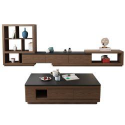 現代木のホームホテルの寝室のキャビネットの居間の家具TVの立場