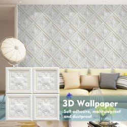 Het de zelfklevende 3D Schil van het Schuim XPE en Comité van de Muur van het Behang van de Stok voor Van achtergrond TV Muur