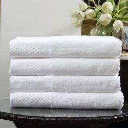 Alta qualità Hilton Hotel 70 X 140 Premium White Hand Asciugamani da bagno viso 100% cotone in magazzino