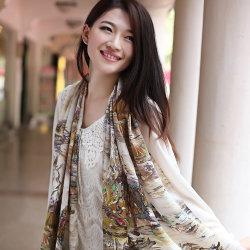 方法女性のためのデジタルによって印刷される純粋な絹のスカーフ
