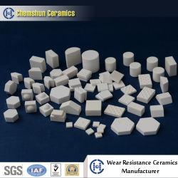 Resistente al desgaste del revestimiento de desgaste de cerámica de alúmina utilizados como forros de la industria