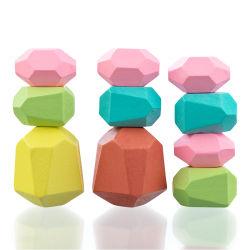 مبتكرة خشبيّة [جنغ] بناية قالب يلوّن حجارة تربويّ لعب باردة نغمة أسلوب [نورديك] يكدّر لعبة أطفال لعب خشبيّة